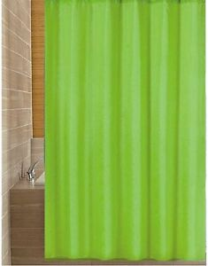 Image Is Loading Solid Green Shower Curtain 1 8m New Free