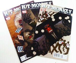 Marvel-HIT-MONKEY-2010-1-2-3-DEADPOOL-HULU-TV-SHOW-Lot-VF-NM-to-NM-Ships-FREE