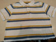 Gap White with Yellow & Blue  Short Sleeve Polo Men's Medium    FREE SHIPPING!