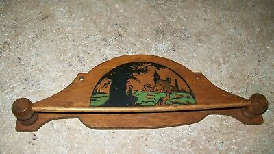 Furniture Antique Child's Wood Tie Holder Rack Very Good Condition Comfortable And Easy To Wear