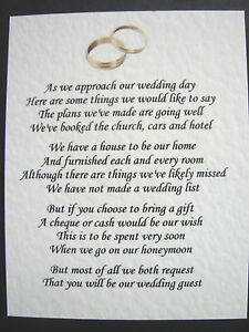 20 Wedding Poems Asking For Money Gifts Not Presents Ref No 6 Ebay,Black And White Wallpaper Anime Girl
