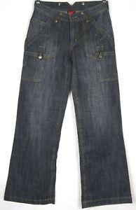 Canterbury Womens Jeans Size 8 Black Denim
