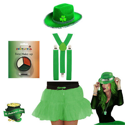 Patrick/'s Day Tutu Fancy Dress Costume Ireland Irish Leprechaun Party Ladies St