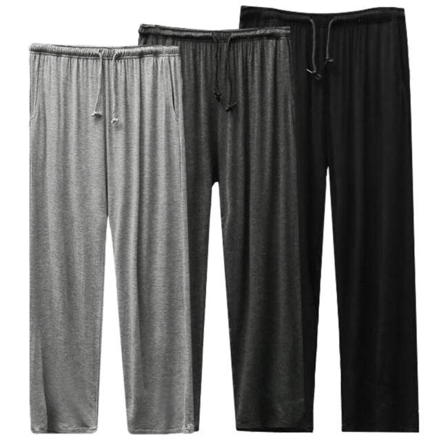 Mens Sleepwear Sleep Pants Pajama Long Lounge Bottoms Yoga Trousers Nightwear