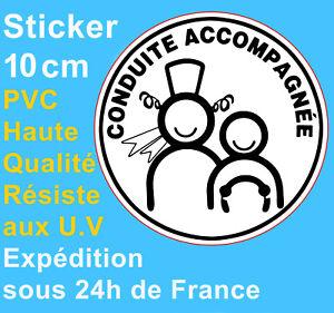 Sticker Autocollant Disque Conduite accompagnée 10cm Bretagne Voiture Adhésif