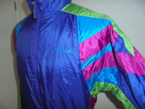 vintage-80-s-ADIDAS-Nylon-Jacke-Sportjacke-jacket-glanz-shiny-oldschool-D4-S-M