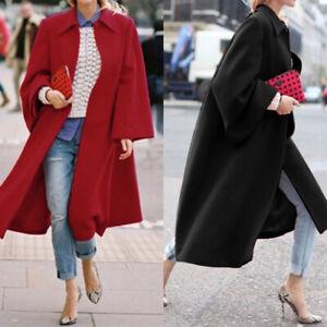 ZANZEA-UK-Womens-Overcoat-Woolen-Trench-Coat-Ladies-Winter-Long-Jacket-Plus-Size