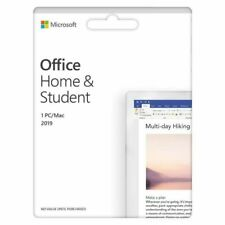 Microsoft Office Home And Student 2019 1 Device Product Key Card