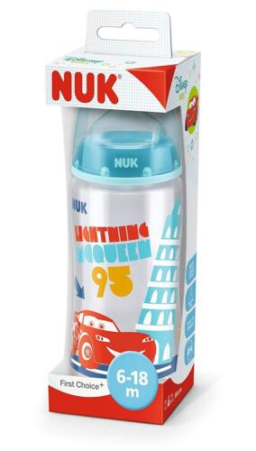 3x NUK First Choice Plus Disney Cars Babyflasche je 300ml 6-18m kiefergerecht