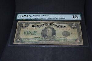 PMG-Graded-Dominion-of-Canada-DC-25f-1923-1-Banknote-Group-2-Fine12