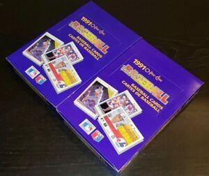 Lot of 2 - 1991 O-Pee-Chee Premier Baseball Hobby Box TAKEN FROM FRESH CASE