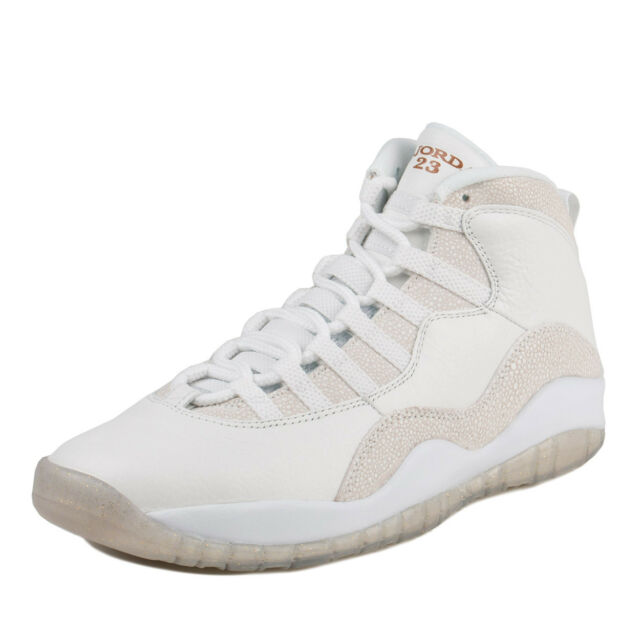 868ad1e896cd0a Nike Mens Air Jordan 10 Retro OVO Drake Summit White Metallic Gold  819955-100