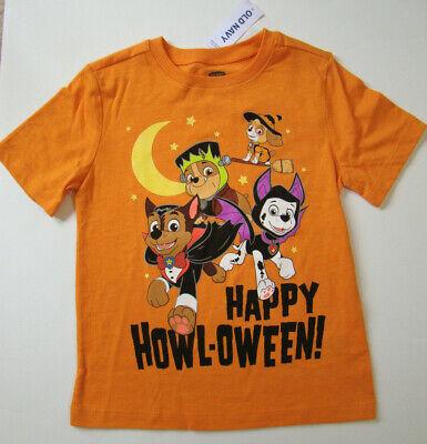 Toddler Paw Patrol Halloween Short Sleeve Shirt Skye Chase Rubble Marshall