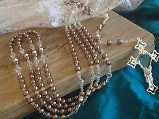 Crystal Pearls Wedding Lasso Chocolate Color /Lazo En Perlas Color Chocolate