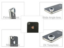 Magnetic 4 in 1 Wide Angle Macro 2X Fish Eye Lens for iPad 2 iPad 3 / 3rd Gen