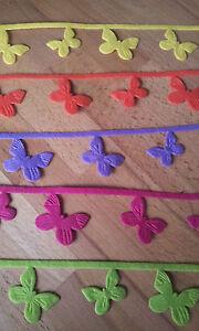 Importé De L'éTranger 3 M Délicat Filzband Dekoband Papillon Mètres Façon Choix De Couleur Butterfly Feutre-afficher Le Titre D'origine