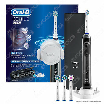 Oral B Genius 10100S Black Spazzolino Elettrico Braun Nero Bluetooth