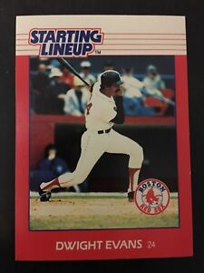 DWIGHT EVANS 1988 Starting Line-Up Baseball Card BOSTON RED SOX NM/M Condition