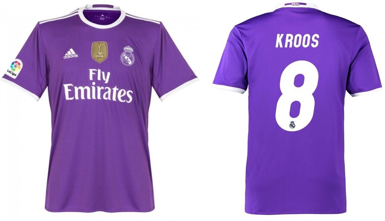 Trikot Adidas Real Madrid 2016-2017 Away WC Kroos - Badge Klubweltmeister