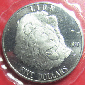 1996-MARSHALL-ISLANDS-5-034-LION-034-WILDLIFE-CAT-SEALED-PACKAGE-CU-NI-no-silver