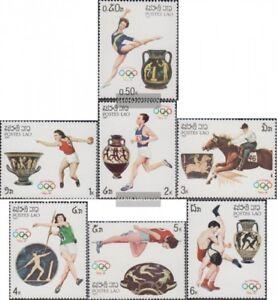 Laos-973-979-kompl-Ausg-postfrisch-1987-Olympische-Sommerspiele-88