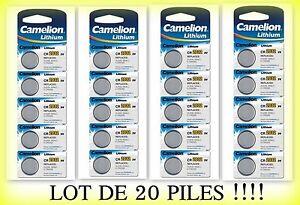 Lot-de-20-piles-boutons-CR2032-3V-camelion-livraison-rapide-et-gratuite