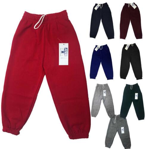 Boys Girls Kids Children School PE Fleece Joggin Bottoms Tracksuit Trousers