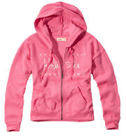 Womens Hollister By Abercrombie & Fitch Full-zip Brooks Beach Hoodie Pink
