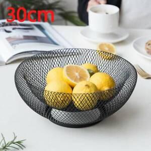 24//30cm Reticulate bilayer Fruit Bowl Basket  Kitchen Vegetables Fruit Rack
