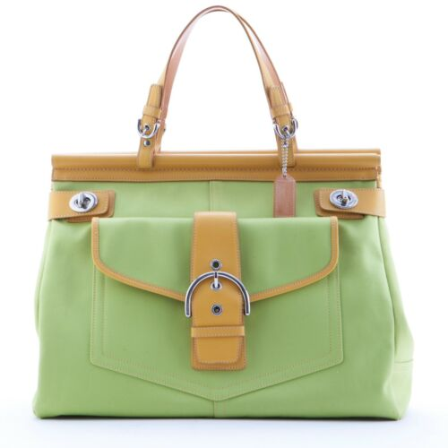 Coach Vintage Tote Bag, Yellow and Lime Green
