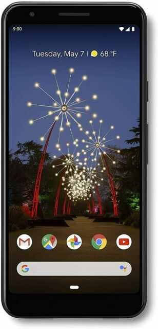 """Band New Google Pixel 3A with 64GB Memory Cell phone 5.6"""",4G LTE Unlocked -Black"""