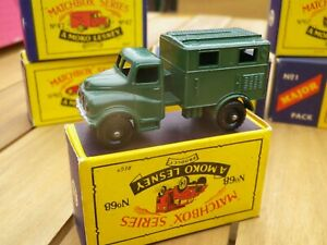 Matchbox Lesney Moko 68 Army Camion Sans Fil Comme Neuf Superbe B4 Box
