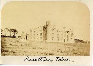 Angleterre-Newcastle-tower-vue-generale-Vintage-albumen-print-Tirage-alb