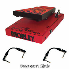 Morley George Lynch Dragon II 2 Wah Effects Pedal GLW2 W/2 Free Patch Cables