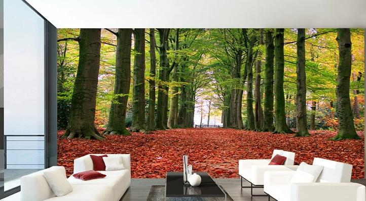3D Fall Laub Wald 455 Tapete Tapeten Mauer Foto Familie Tapete Wandgemälde