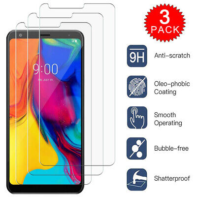 x3 Tempered Glass Screen Protector For LG Stylo 4 LG Stylo 4 Plus