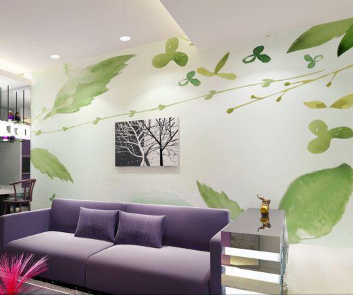 3D Grass grünen Blättern 47 Fototapeten Wandbild Fototapete BildTapete FamilieDE