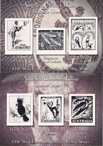 Australia 1946 Stamp Design Competition Unadopted Essays Souvenir Sheets 4 5 Ebay