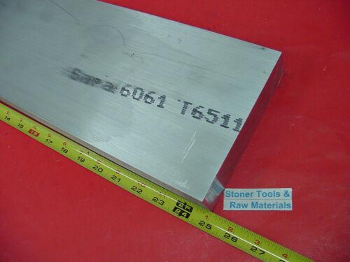 "1-1//2/"" X 6/"" ALUMINUM 6061 FLAT BAR 25/"" long SOLID T6511 1.50/"" Plate Mill Stock"