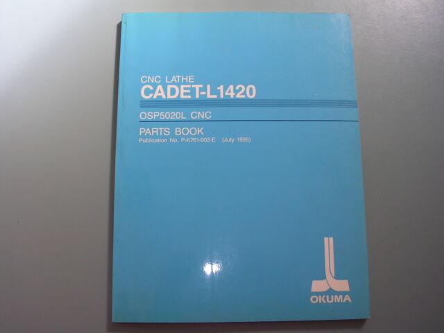 Okuma CNC Lathe LB25 /& 650 OSP5020L /& 5000LG Parts Book