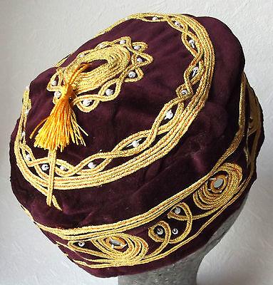 Maroon smoking cap Small discreet tassel NEW Extra Large sizes 3XL 4XL mens hats