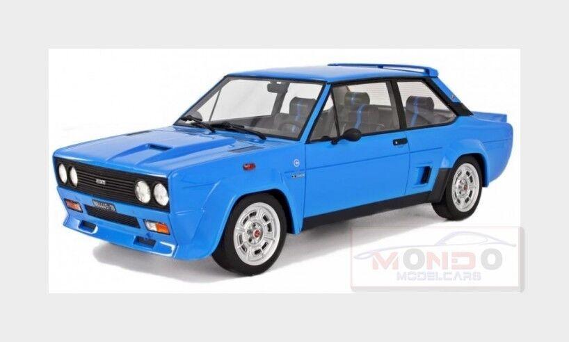 FIAT 131 Abarth Abarth Abarth Stradale 1976 blu LAUDORACING 1:18 LM109B 96b18b