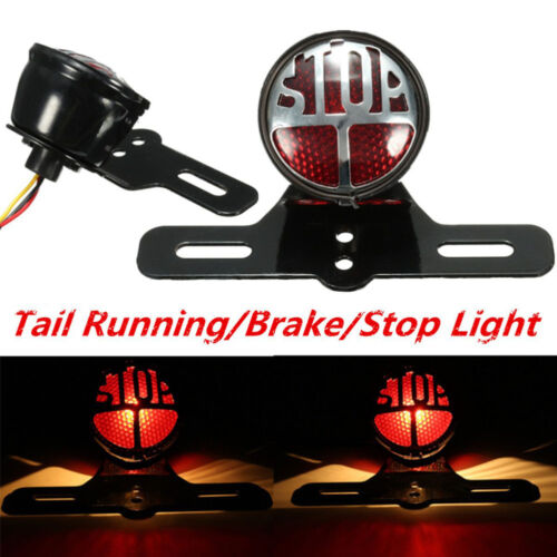 Classic Motorcycle Tail Light Brake Stop Rear Lamp For Harley Bobber Cafe Racer