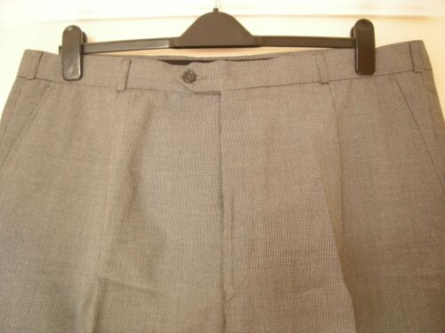 BNWOT GENTS GEORGE BLACK & CREAM TINY CHECK FORMAL TROUSERS 42 R