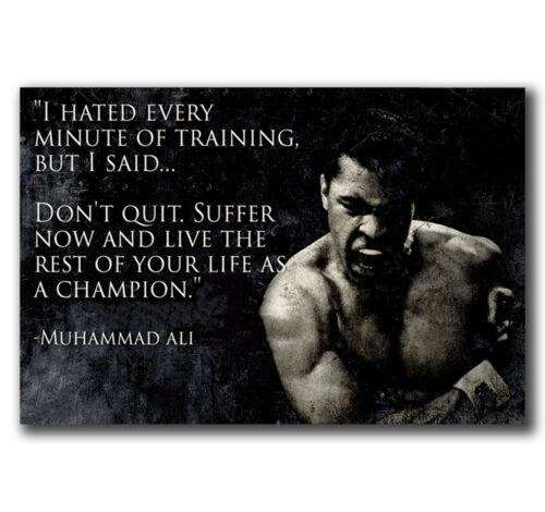E2528 Art muhammad ali fitness-motivation-ali Poster Hot Gift 24x36 40inch