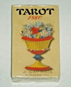 Tarot-Gaudais-1860-Rare-unusual-78-Card-Deck-BRAND-NEW-amp-SEALED-w-Tarot-Bag