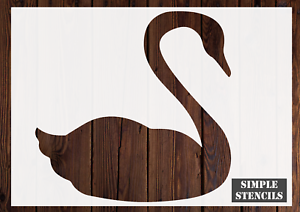 Swan stencil Card making,Craft Stencil animal stencil