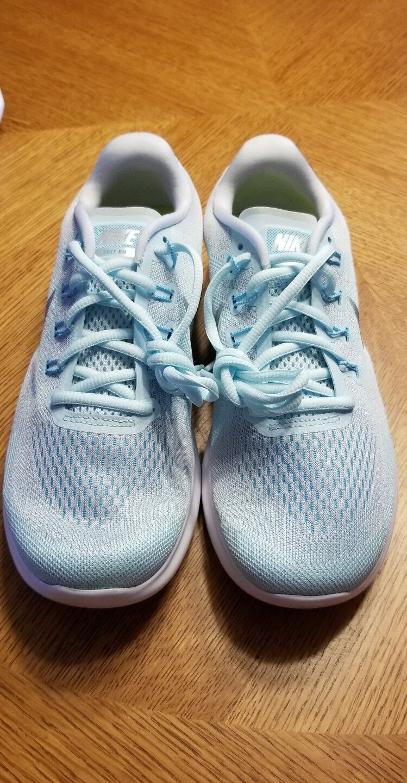 Nike Free RN Women's Running Athletic Shoe 10 Glacier Blue Silver 880840 402 New