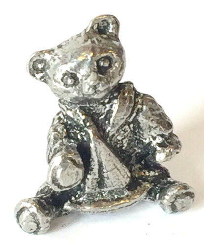 Small Teddy Bear Hand made from lead free English Pewter Yacht Figurine