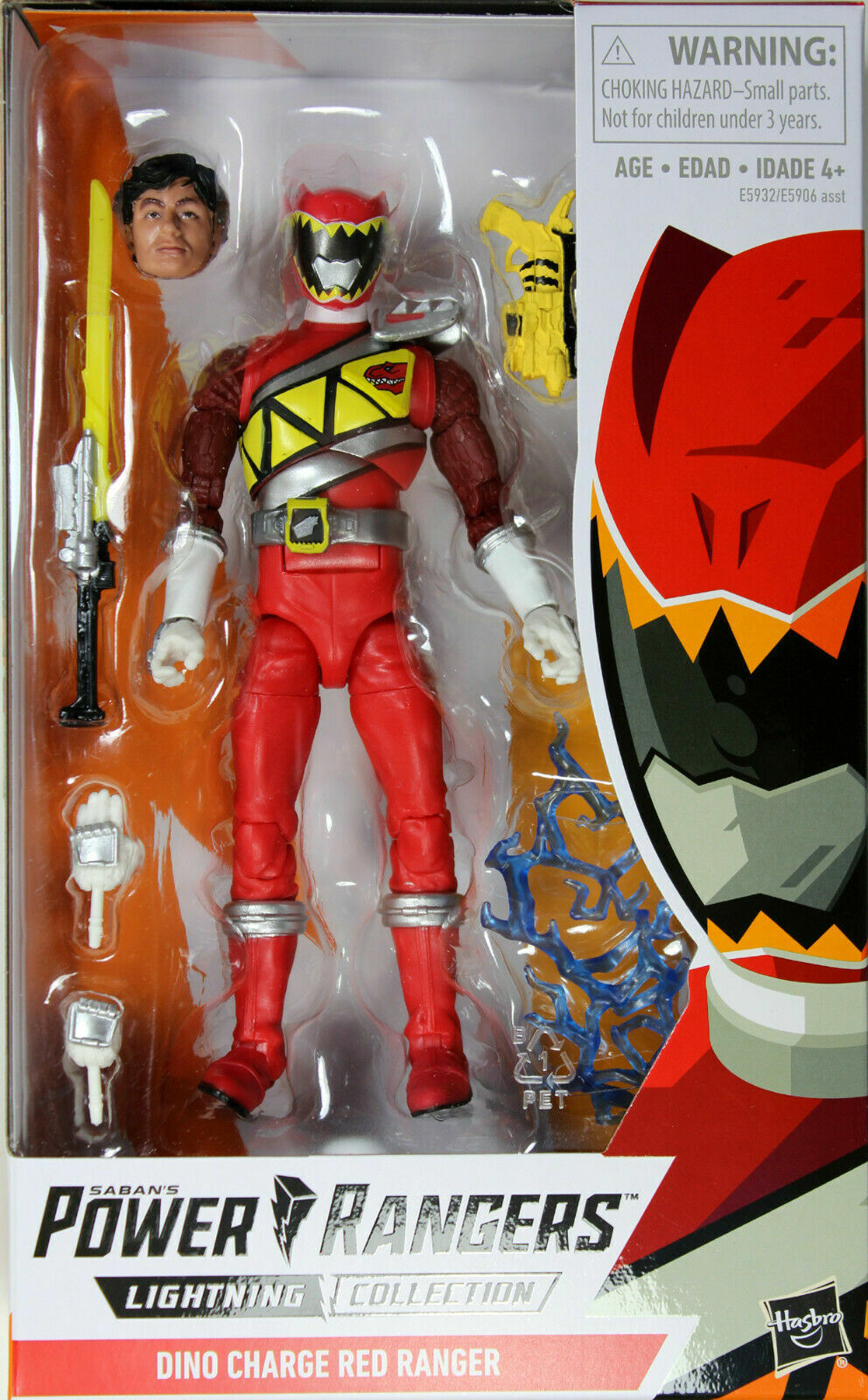 Power Rangers Lightning Collection MM Dino Charge Red Ranger Hasbro